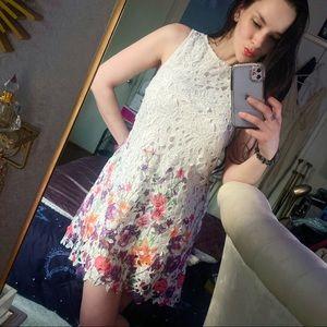 Mini White Floral Dress